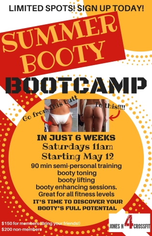 Summer BootyBOOT CAMP 2